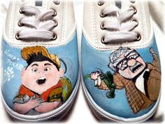Hand painted shoes Disney Pixar Up by Bomagotchdesigns on Etsy, $50.00