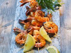 Shrimps-Spieße vom Grill |