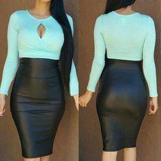 Long Sleeve Color Block Dress