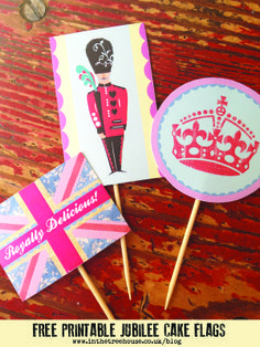 Free Printable Jubilee Cake Flags Union Jack London Guard by In the Treehouse