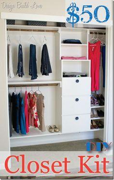 $50 Handmade Closet Kit Reveal (Day 3: 30 Days to an Organized Home) - Design Build Love