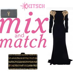 #MixNMatch: To complete the look of this super voguish Alexander McQueen embellished gown,which clutch do you see yourself gravitating to more?Shop the complete look only at #Kitsch!!  @ysl