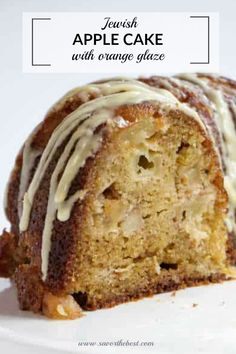 This moist apple cake is baked in a bundt pan and makes a perfect potluck dessert. It is baked with oil instead of butter and it is classified as pareve. The orange glaze tastes wonderful with the tart apples. Potluck Desserts, Fancy Desserts, Best Dessert Recipes, Sweet Recipes, Cake Recipes, Sweet Desserts, Pumpkin Recipes, Yummy Recipes, Healthy Recipes