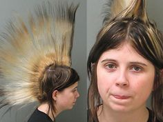 Police say she needed to open the sunroof to make room for her hair. Memphis Police, 18 Inch Hair, Mug Shots, Friend Birthday, Her Hair, Anna, Photoshop, Allegedly, Mugs