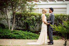 The #romantic #firstglance. ::Alyssa + Curtis' delightful wedding in Del Mar, California:: #firstlook #couplesportrait #amomentalone #togetherforever #weddingday #weddingphotography