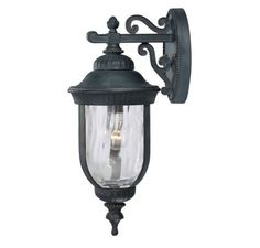 Savoy House Castlemain Black w/ Gold Wall Mount Lantern by Savoy House. $119.95. 1 - E Bulbs. Black w/ Gold. Clear hammered glass distorts the light for a dreamy effect in this versatile outdoor wall lantern, which has just the right amount of added detail and a luxe black finish with gold highlights. 5-60321-186
