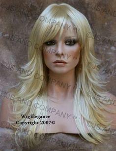 layered blonde wig