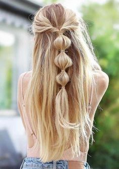 Here we have tried our best to provide you absolutely amazing styles of bubble braids to sport in year Use to sport these best ever ideas of braids for better hair looks and cute personality. Unique Braided Hairstyles, Cool Braid Hairstyles, Easy Hairstyles For Long Hair, Trendy Hairstyles, Veil Hairstyles, Wedding Hairstyles, Top Braid, Modelos Fashion, Cool Braids