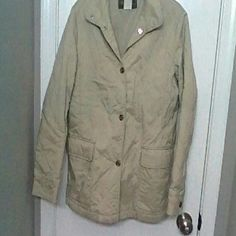 Loro Piana Quilted Jacket Khaki quilted button jacket Neiman Marcus Jackets & Coats Utility Jackets