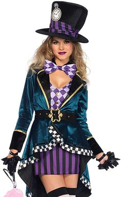online shopping for Leg Avenue Women's Delightful Mad Hatter Halloween Costume from top store. See new offer for Leg Avenue Women's Delightful Mad Hatter Halloween Costume Mad Hatter Halloween Costume, Halloween Costumes Online, Mad Hatter Costumes, Halloween Kostüm, Adult Costumes, Costumes For Women, Halloween Cupcakes, Family Costumes, Family Halloween