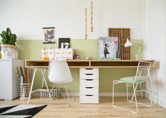 6 budgettips met IKEA voor studeer- en badkamer 6 budget tips with Ikea for study and bathroom Serene Bathroom, Bathroom Wall Decor, Dyi Bathroom, Bedroom Decor, Inspiration Ikea, Pc Table, Pc Desk, Room Carpet, Home Office Design