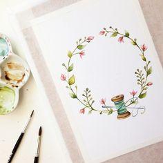 Watercolor logo 🌾 #art #открытка #sketch #picture #рисуюкаждыйдень #drawing  #artist  #illustration #love #подарок #акварель #художник #иллюстрация #ручнаяработа #дизайн #скетч #handmade #рисунок #watercolor #брошь #любовь