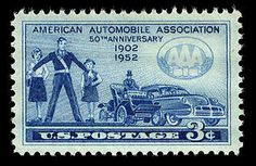 This stamp honored the 50th anniversary of the founding of the American Automobile Association. The goal in issuing the stamp was to promote the AAA's Safety and Accident Prevention Program, and to honor those who work as crossing guards.