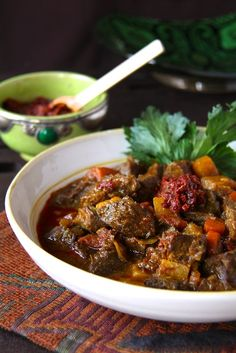 Moroccan Beef Stew with Harissa