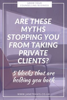 You've qualified as a counsellor but aren't taking private clients - maybe these 5 myths are holding you back from private practice success Art Therapy, Speech Therapy, Play Therapy, Therapy Tools, Group Activities For Adults, Private Speech, Behavioral Therapy, Occupational Therapy, Private Practice