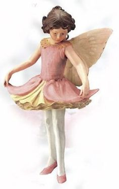 Orchis Flower Fairy Figurine ~ Cicely Mary Barker Flower Fairies Collectibles ~ Fairy Garden Accessories ~ NIB Retired