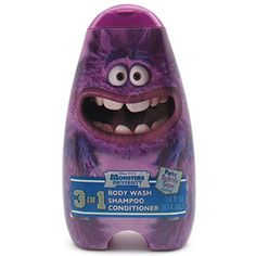 Monster U 3 in 1 Body Wash, Shampoo & Conditioner - Scary Berry Sulley  //Price: $ & FREE Shipping //     #hair #curles #style #haircare #shampoo #makeup #elixir
