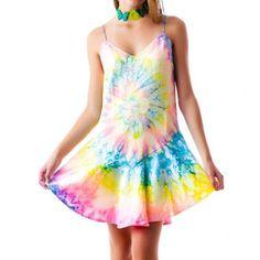 Unif Charmuse Tie Dye Dress Size Small