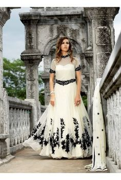 White-Rasal-Net-Floor-Length-Anarkali-Suit