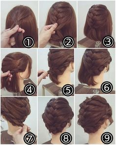 """Styling mittelange Haare, Easy hairstyles, """" Styling mittelange Haare Source by Styling medium hair, Easy hairstyles, """" styling medium hair Source by … Romantic Hairstyles, Braided Hairstyles Updo, Up Hairstyles, Wedding Hairstyles, Braided Updo, Braided Crown, Fashion Hairstyles, Hairstyles For Short Hair Easy, Fringe Hairstyle"""