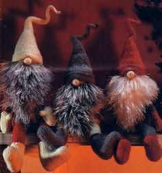 "Jultomten ""tomte"" Swedish Christmas Gnomes so freakin cute >>I wanna make one or get one"