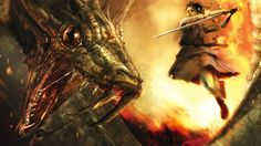 Desktop Wallpaper · Gallery · Windows 7 · Dragon Battle Windows 7 wallpaper | Free Background 1920x1080