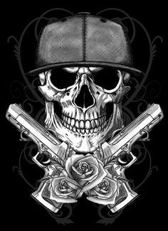#Skull Illustration by DANIEL TOLEDO, via Behance
