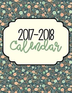 You are going to absolutely LOVE this 2017-2018 Calendar! Each month is spread out on two pages with one of the bottom pages being set aside for a preview of the previous month as well as the month ahead. This calendar gives off a very professional yet fun vibe along with quotes that will motivate us, teachers!