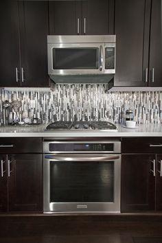 58 best mirrored backsplash images modern kitchens bath room rh pinterest com