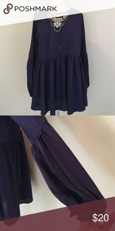 Boutique Peasant Top Beautiful shade of purple in this boutique top - two button front  - 100% rayon Boutique Tops Blouses
