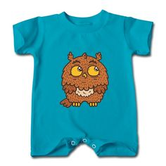 Lovely Owl Turquoise Cute T-romper For Baby Printing-Funny Clothing SAVE up to 80% off,Create custom T-shirts at a fantastic price, no minimum quantity. 100% Satisfaction Guaranteed.