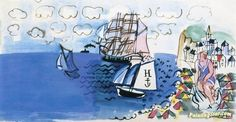 Souvenir of Le Havre Artwork by Raoul Dufy Hand-painted and Art Prints on canvas for sale,you can custom the size and frame