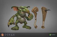 Goblin by Gimaldinov on DeviantArt 2d Character, Character Concept, Character Design, Game Concept, Concept Art, Warhammer Online, Goblin King, Horror, Fantasy Monster