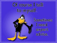 Of Course I Talk To Myself ....