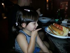 Look at my #jumbo #hotdog #dinner in #phuket for a #3yo