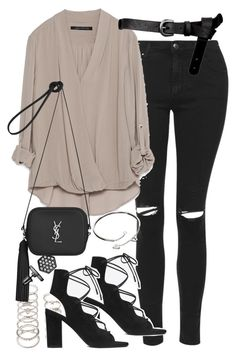 """Outfit for a night out"" by ferned on Polyvore featuring Topshop, Zara, ASOS, Forever 21, Yves Saint Laurent, Cartier and Simply Vera"