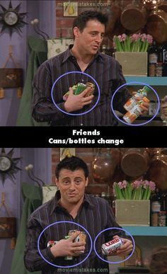 The 20 biggest Friends mistake pictures - time to have a Friends marathon to prove these right or wrong.