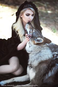"""Collier The Rogue + The Wolf """"Eclipse"""" + Bague """"Rule"""" - Model: Maria Amanda"""