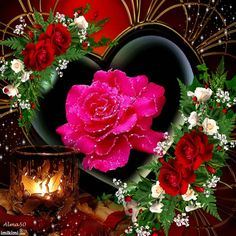 Discover & share this Animated GIF with everyone you know. GIPHY is how you search, share, discover, and create GIFs. Flowers Gif, Beautiful Rose Flowers, Beautiful Gif, Heart Images, Love Images, Love Wallpapers Romantic, Giving Flowers, Photo Frame Design, Good Morning Images Hd