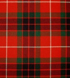 Fraser Red Modern Tartan. Strome Heavy Weight Fabric from Lochcarron of Scotland, sold by the metre. 500-515gm per linear metre 138 cm wide. . . Sold by TartanPlusTweed.com A family owned kilt and gift shop in the Scottish Borders