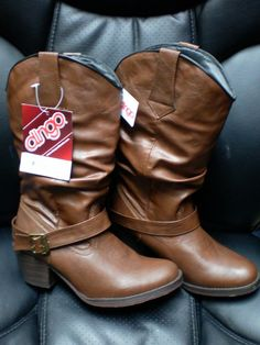 NWT Dingo size 7 to 8 brown slouch top boots DI8526 #Dingo #Slouch #Casual