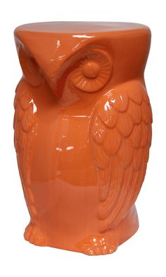 Hoot Statue - Orange   Decorative Accents   Accents   Products   Urban Barn