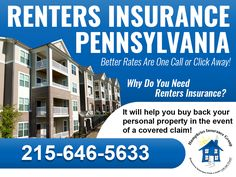 Why do you need Pennsylvania renters insurance? Because it will help you buy back your personal property in the event of a covered claim! For better rates on renters insurance in Pennsylvania call Humphries Insurance today or visit www.autoinsurancephiladelphia.co