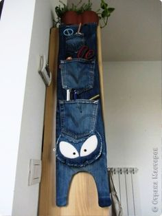 Fun recycled denim idea