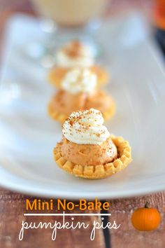 Mini No-Bake Pumpkin Pies AND Pumpkin Pie in a Glass (cocktail) from Kitchen Meets Girl