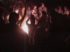 Off Grid Amusement: Drum circle around fire. Off The Grid, Drums, Fire, Concert, Percussion, Off Grid, Concerts, Drum