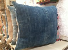 Vintage African indigo pillows @ John Derian