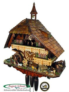 Black Forest Cuckoo Clock 8-Day Gutach Valley Mill NEW