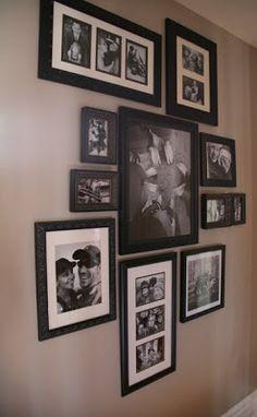 Il y a longtemps que je rêvais d'un mur de cadres à la maison... des cadres de différentes grandeurs, textures, placés asymétriquement dans...