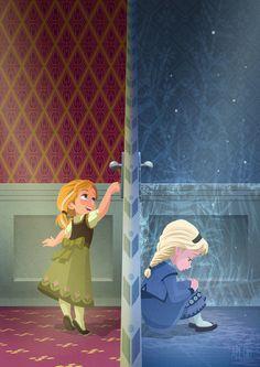 Anna and elsa Disney Princess Pictures, Disney Princess Drawings, Disney Princess Art, Disney Sketches, Disney Fan Art, Disney Pictures, Disney Drawings, Cute Disney Wallpaper, Cartoon Wallpaper